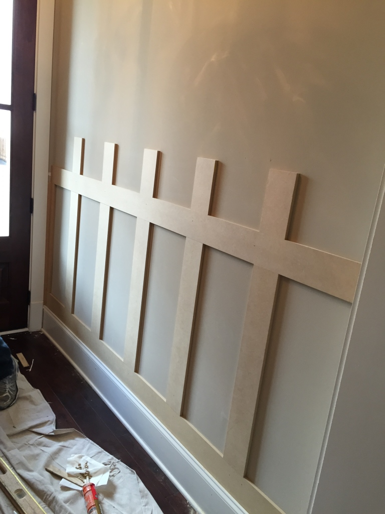 Mission Style Paneling : Home sweet project wainscoting mrslaurenbrady
